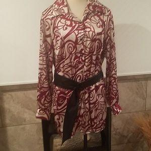 Long silk blouse